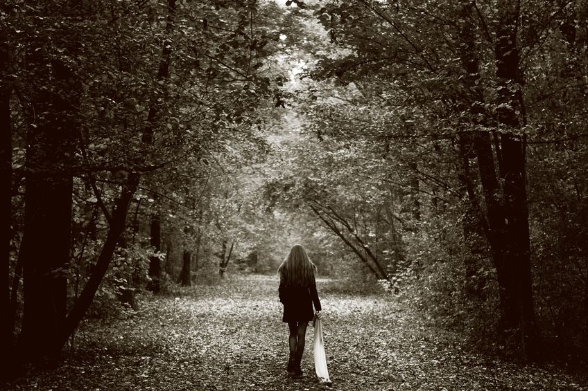 8305733 - solitude concept - lonely sad woman in the woods