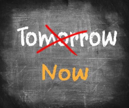 30208437 - word now written instead of tomorrow. procrastination concept